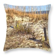 Tybee Island Dunes Throw Pillow