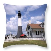 Tybee Island Light Throw Pillow
