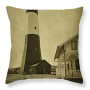 Tybee Island Light Station Throw Pillow