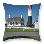 Tybee Island Lighthouse Ga Throw Pillow