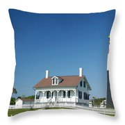 Tybee Island Lighthouse Georgia Throw Pillow