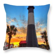 Tybee Island Sunrise Throw Pillow