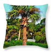 Tybee Palm Throw Pillow