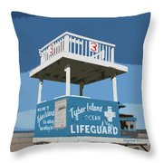 Tybee Third Street Lifeguard Stand Throw Pillow