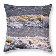 Tybee Waves Throw Pillow