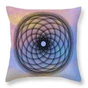 Tye Dye Spirograph Throw Pillow