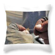 Tying Flies For Snake River Cutthroat Trout Throw Pillow