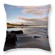 Tynemouth Longsands Throw Pillow