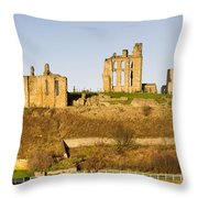 Tynemouth Priory And Castle Throw Pillow