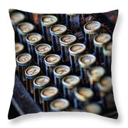 Typewriter Keys Throw Pillow