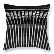 Typewriter Keys IIi Throw Pillow