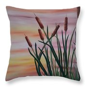 Typha Throw Pillow