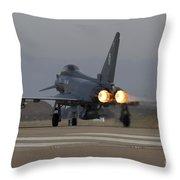 Typhoon Launch Throw Pillow