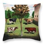 Typical Cows  Throw Pillow