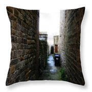 Typical English Back Alley Throw Pillow