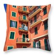 Typical Ligurian Homes Throw Pillow