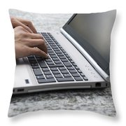 Typing Throw Pillow