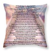 Typography Art Desiderata Poem On Stairway To Heaven Throw Pillow