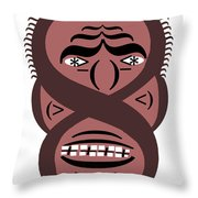 Typortraiture Obama Throw Pillow