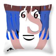 Typortraiture Ringo Starr Throw Pillow