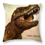 Tyrannosaurus Rex 3 Throw Pillow