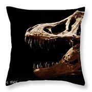 Tyrannosaurus Rex Skull 4 Throw Pillow