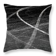 Tyre Tracks Throw Pillow