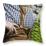 Tyrolean Man Throw Pillow