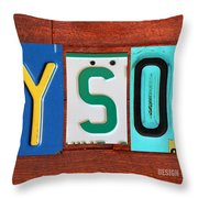 Tyson License Plate Name Sign Fun Kid Room Decor Throw Pillow