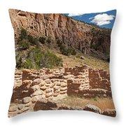Tyuonyi Bandelier National Monument Throw Pillow