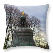 Tzar Bell Of Moscow Kremlin - Square Throw Pillow
