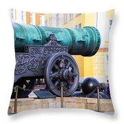 Tzar Cannon Of Moscow Kremlin Throw Pillow
