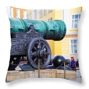Tzar Cannon Of Moscow Kremlin - Square Throw Pillow