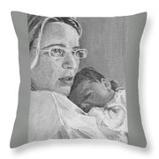 Tzurit And Mika Throw Pillow