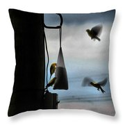 U R Cleared For Landing On Runway 5 Throw Pillow