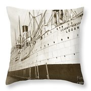 U. S. Army Transport Logan San Francisco California  1898 Throw Pillow