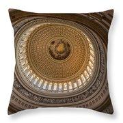 U S Capitol Rotunda Throw Pillow by Steve Gadomski
