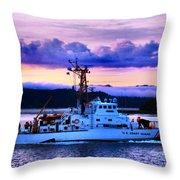 U S Coast Guard Cutter Throw Pillow