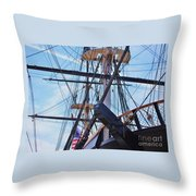 An Aspect Of The U S S Constellation, Baltimore Throw Pillow