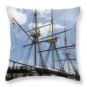 U S S  Constellation Throw Pillow