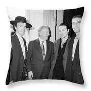 U2 Meet Taoiseach Charles Haughey Throw Pillow