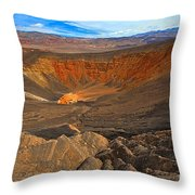 Ubehebe At Death Valley Throw Pillow