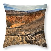 Ubehebe Crater Throw Pillow