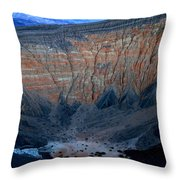 Ubehebe Crater Twilight Death Valley National Park Throw Pillow
