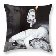 #uck Fame Throw Pillow