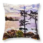 Ucluelet In December Throw Pillow