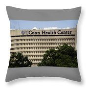 University Of Connecticut Uconn Health Center Throw Pillow