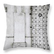 Udaipur City Palace Door Throw Pillow