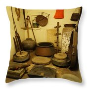 Udaipur City Palace Rajasthan India Queens Kitchen-2 Throw Pillow