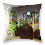 Udaipur City Palace Rajasthan India Queens Kitchen Throw Pillow
